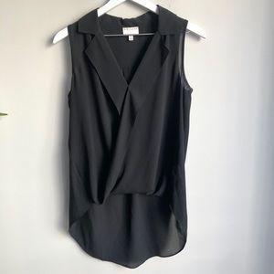 Witchery black sleeveless blouse size 8